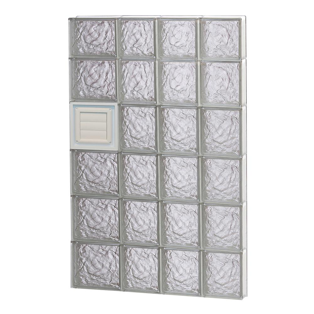 Clearly secure 25 in x 44 5 in x in ice pattern for Where to buy glass block windows