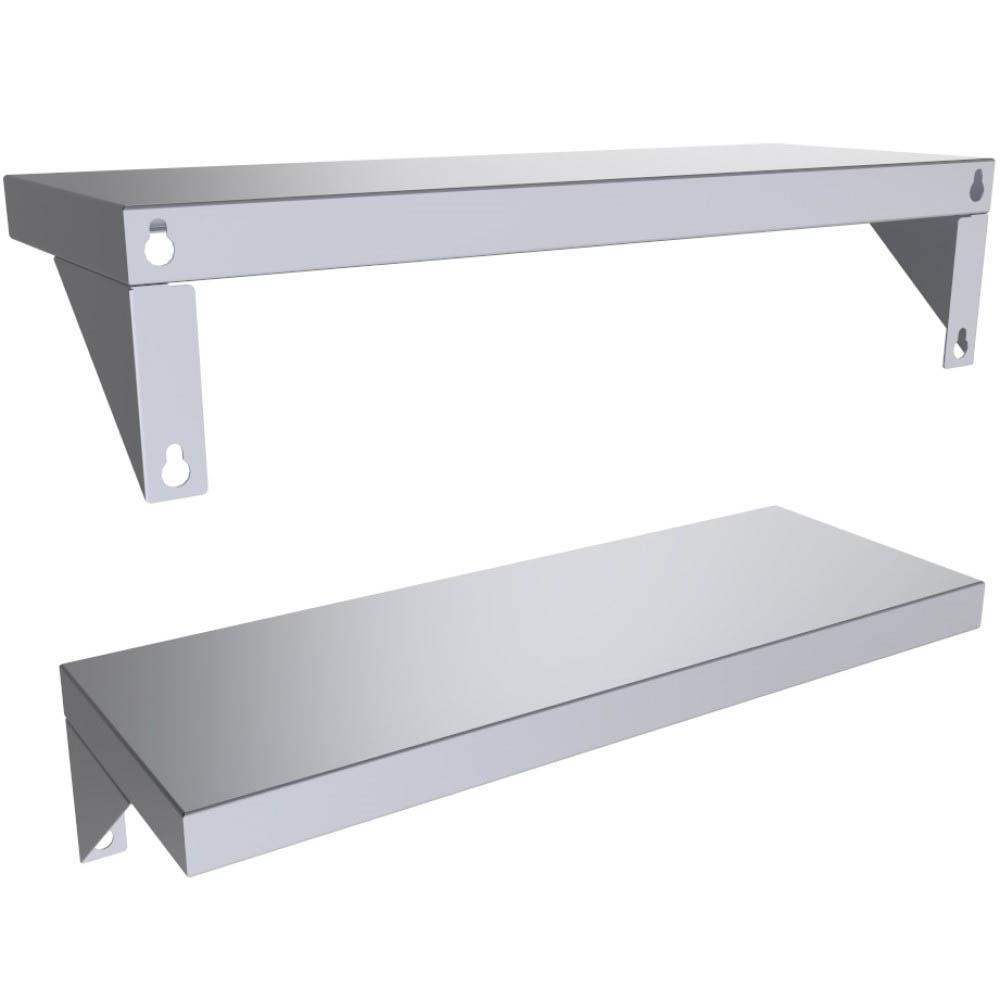 Designer 22.5 in.W x 8 in. D x 1.375 in. H 304 Stainless Steel Sturdy Wall Shelf Panel