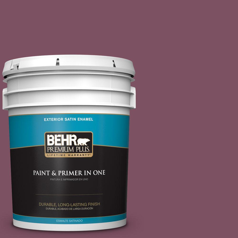 5 gal. #PPU1-19 Classic Berry Satin Enamel Exterior Paint