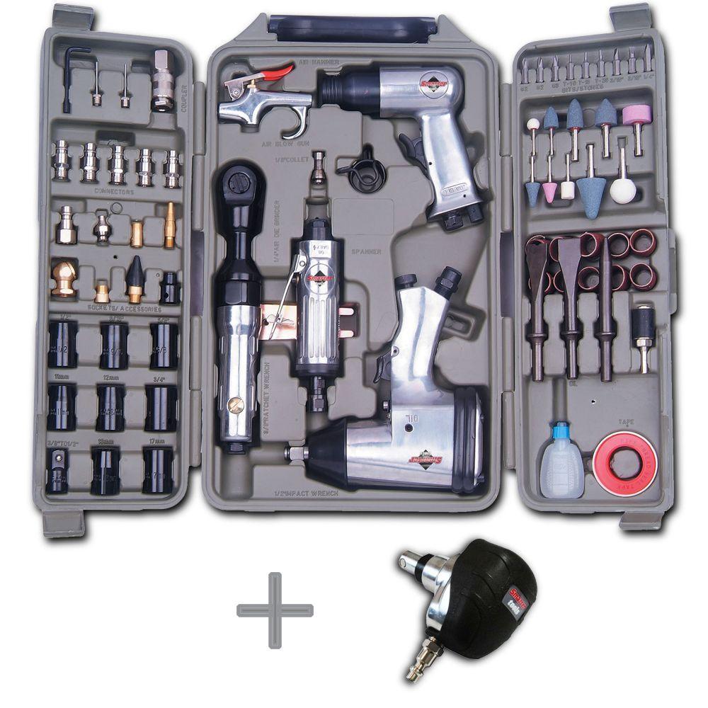 Smarter Tools 5 Tool 71-Piece Air Tool Kit Plus Mini Air Palm Nailer Combo-DISCONTINUED
