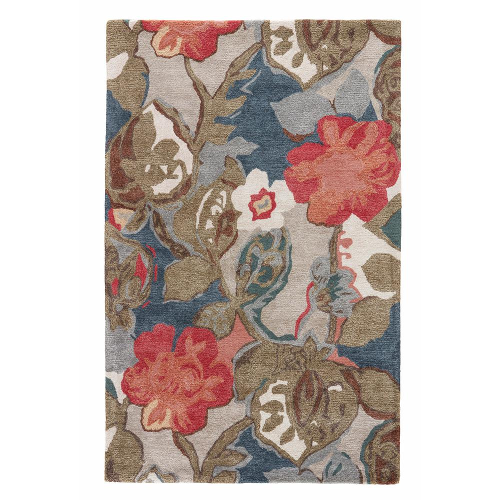 Jaipur Dress Blues 4 ft. x 6 ft. Floral Area Rug