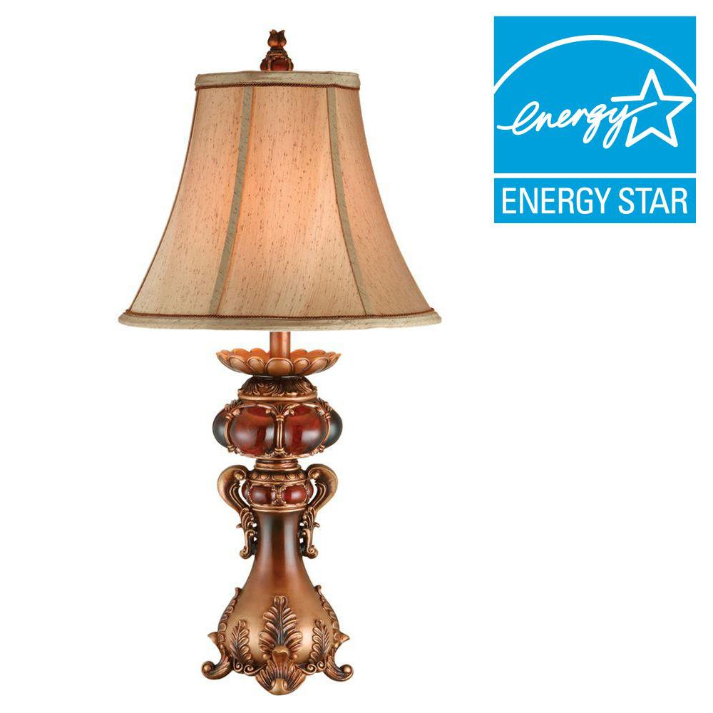 ORE International 31 in. Brown Table Lamp