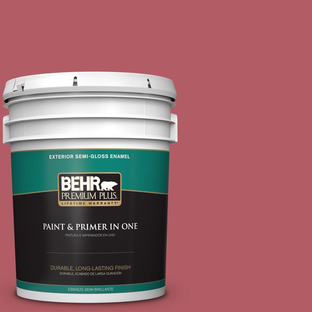 5-gal. #BIC-33 Cinnamon Candle Semi-Gloss Enamel Exterior Paint
