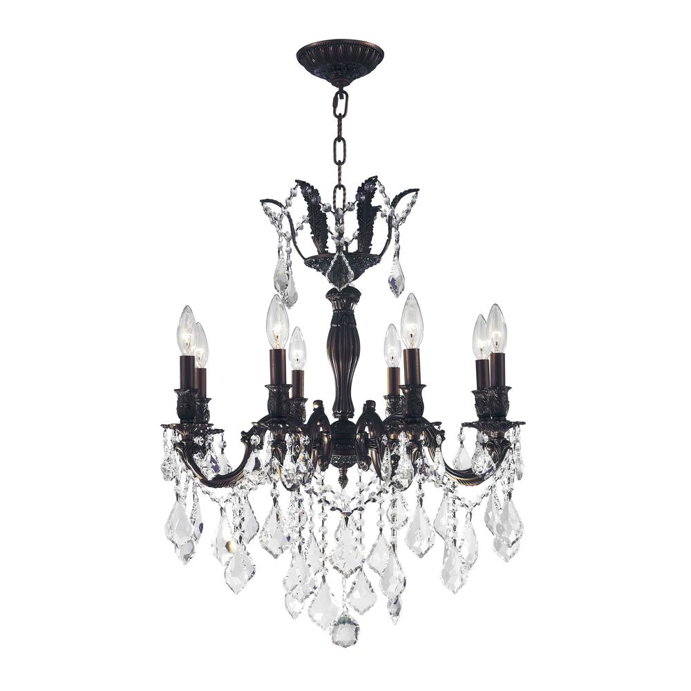Worldwide Lighting Versailles 8 Light Flemish Br Chandelier With Clear Crystal
