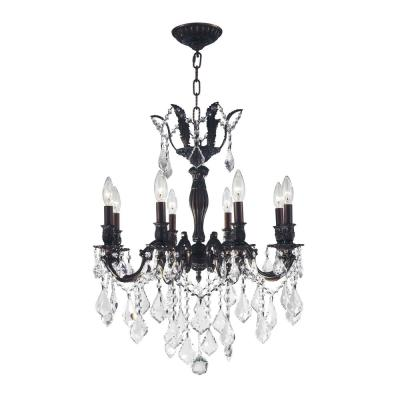 Versailles 8-Light Flemish Brass Chandelier with Clear Crystal