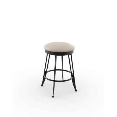 Phylo 26 in. Brown Metal Beige Polyurethane Counter Stool