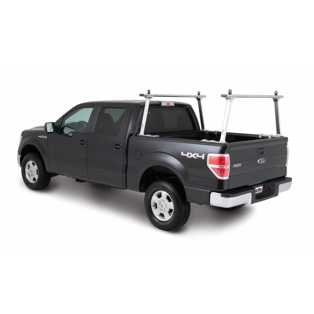 TracRac TracONE Universal Truck Bed Ladder Rack 800 lbs. Capacity Silver Powder Coat Finish