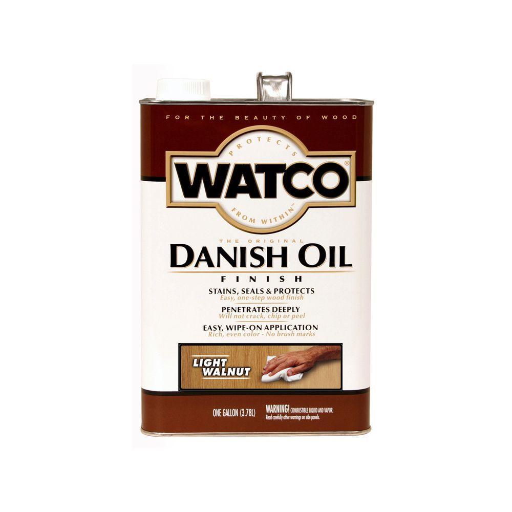 1 gal. Light Walnut Danish Oil (Case of 2)