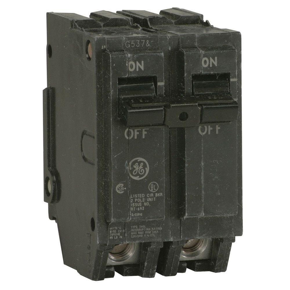 GE  20 Amp 240 volt 2 pole Circuit  Breaker Bolt-on Type THQB  Catalog # THQB220
