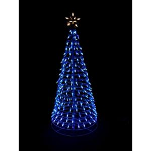 pre lit led blue twinkling tree sculpture with star 7407036ho the home depot - Blue Christmas Tree Lights