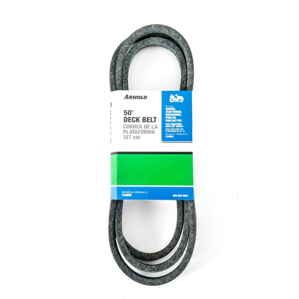 50 in. Lawn Mower Deck Belt Replaces OE# 144959, 21547082, 21547188, 531300766, 53144959, 24690