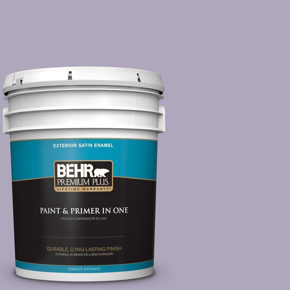 BEHR Premium Plus 5-gal. #650E-3 Plum Blossom Satin Enamel Exterior Paint