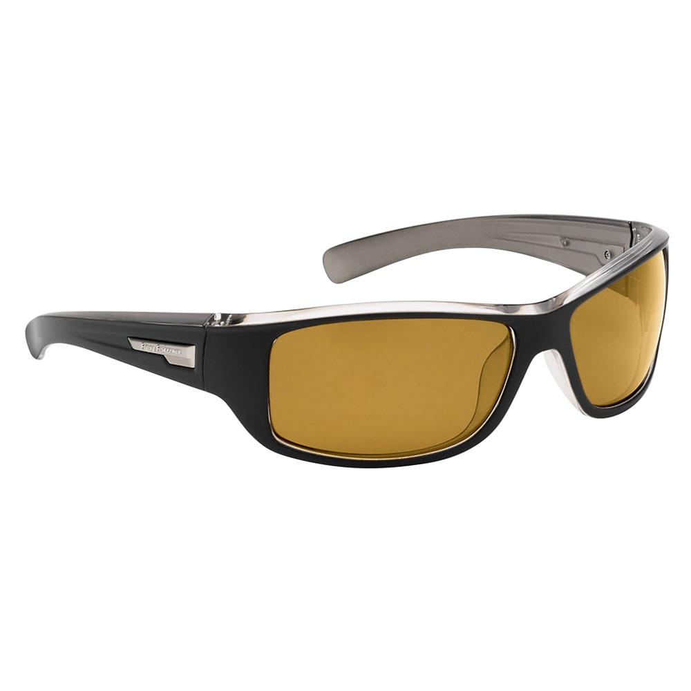 3fa216f89621 Helm Polarized Sunglasses Matte Black Gunmetal Frame with Yellow Amber Lens