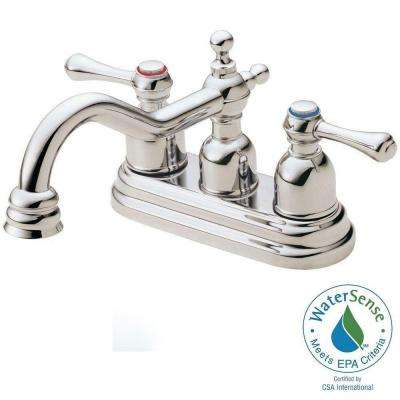 Opulence 4 in. Centerset 2-Handle Bathroom Faucet in Polished Nickel