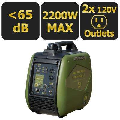 2,200/1,700-Watt Gasoline Powered Recoil Start Portable Digital Inverter Generator with Parallel Capability