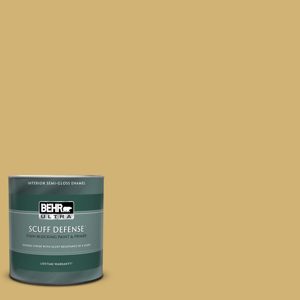Reviews For Behr Ultra 1 Qt M320 5 Dried Chamomile Extra Durable Semi Gloss Enamel Interior Paint Primer 375404 The Home Depot