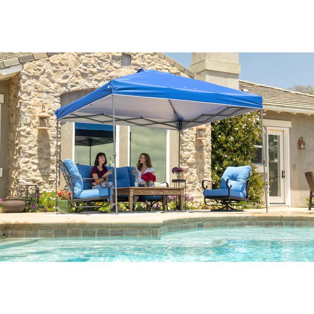 NS-100 10 ft. x 10 ft. Blue Instant Canopy Pop Up Tent