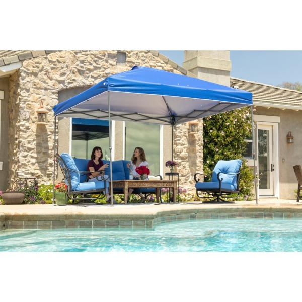 NS-100 10 ft. x 10 ft. Blue Instant Canopy Pop Up Tent