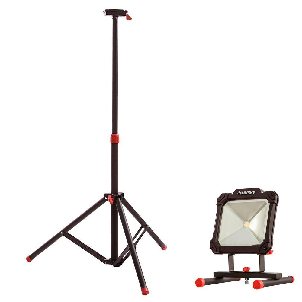 Tripod for Portable LED Work Light and 3500-Lumen Portable LED Work Light