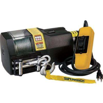 SAC1000 115-Volt AC Residential Winch with Roller Fairlead and 6 ft. Remote