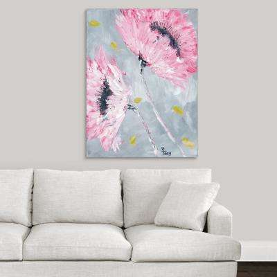 "30 in. x 40 in. ""Bold Pink Blooms"" by  Roey Ebert Canvas Wall Art"