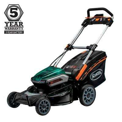 21 in. 62-Volt Lithium-ion Cordless Battery Walk Behind Push Mower 5 Ah Batteries and Charger Included
