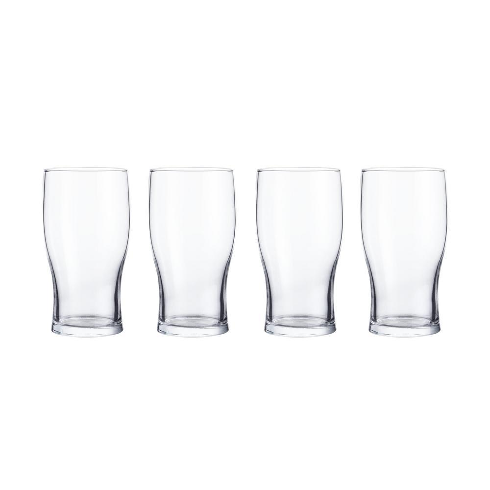 StyleWell 19.5 oz. Pint Beer Glasses (Set of 4)