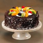 10 in. x 10 in. x 3.125 in. Cake Plate on Pedestal in Champagne Marble