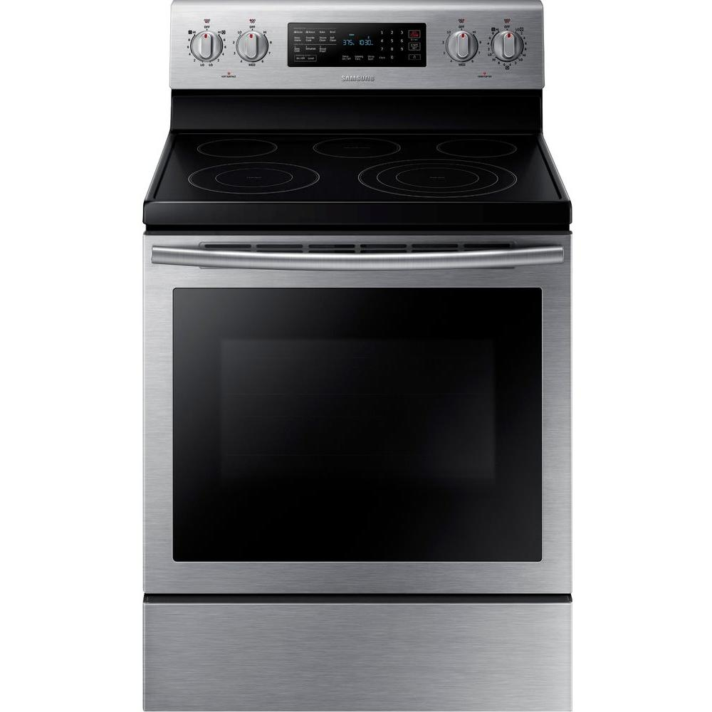 30 in. 5.9 cu. ft. Electric Range with Self-Cleaning Convection Oven