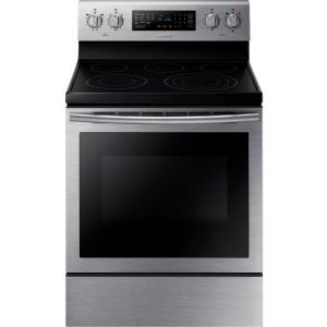 Samsung 30 inch 5.9 cu. ft. Electric Range with Self-Cleaning Convection Oven in Stainless Steel by Samsung