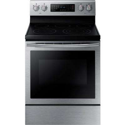 30 in. 5.9 cu. ft. Electric Range with Self-Cleaning Convection Oven in Stainless Steel