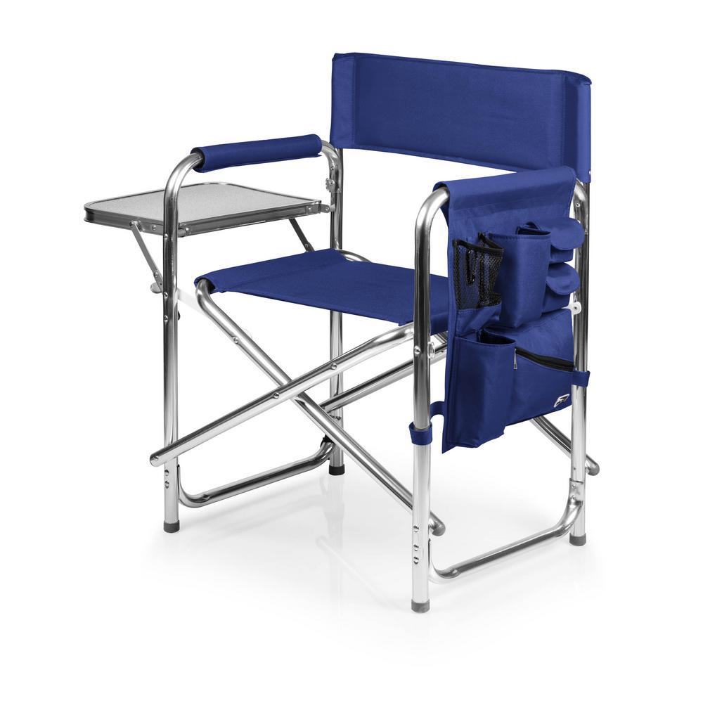 Navy Sports Portable Folding Patio Chair