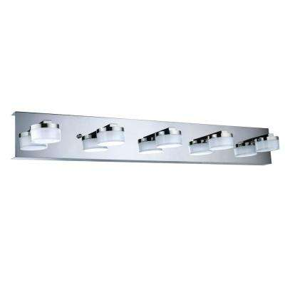 Romendo 100-Watt Chrome Integrated LED Bath Light