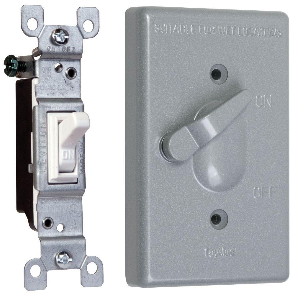 taymac 1 gang weatherproof toggle switch cover combo tc111s the