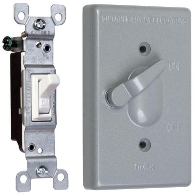 1-Gang Weatherproof Toggle Switch Cover Combo
