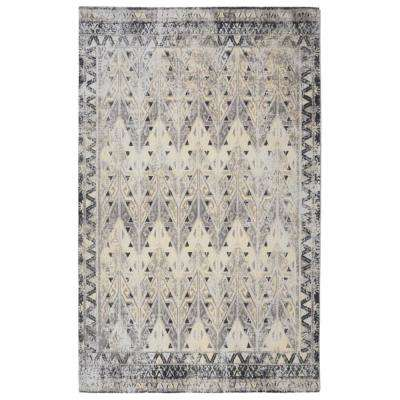 Prime Distressed Vintage Inspired Grey 5 ft. 6 in. x 8 ft. 6 in. Area Rug