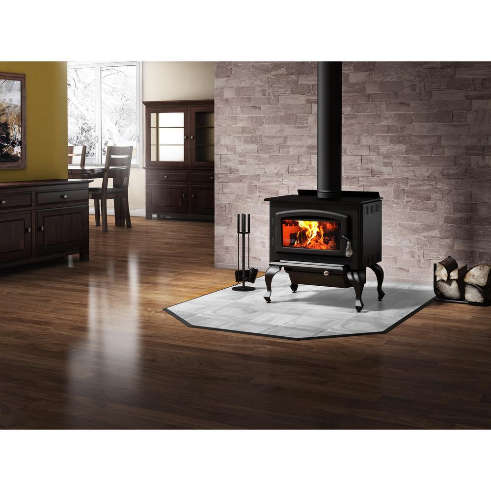 Englander 1200 sq  ft  Wood-Burning Stove-17-VL - The Home Depot