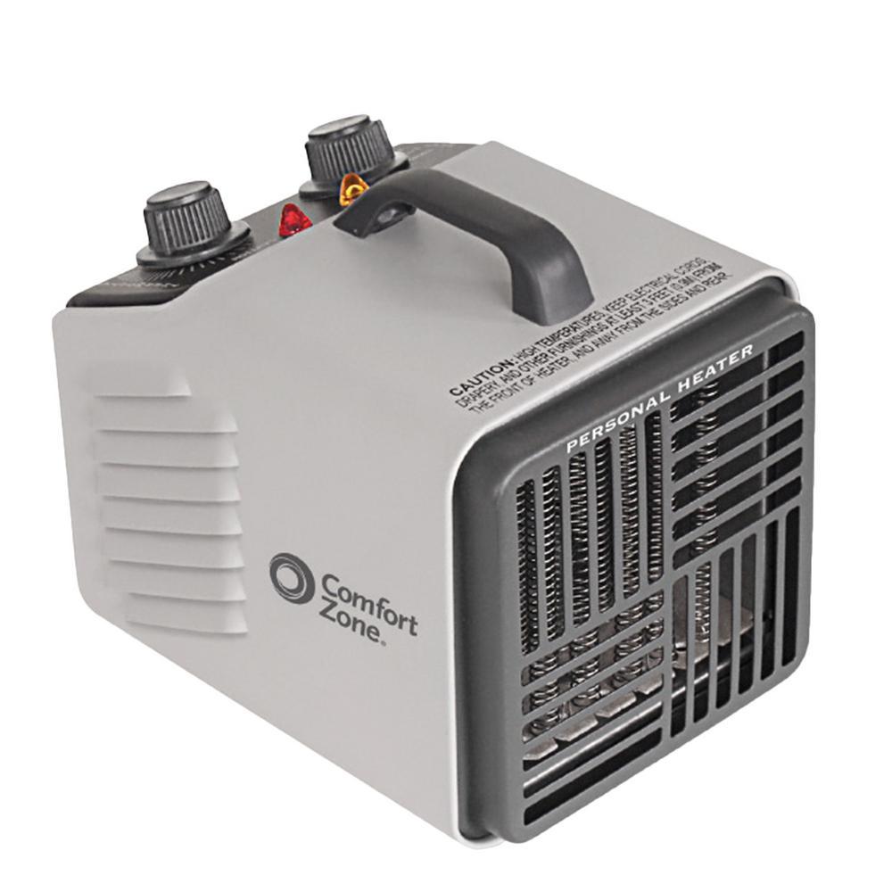 Comfort Zone 1,500-Watt Grey Fan-Forced Electric Portable ...