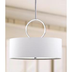 Debonair Drum 3-Light Chrome Pendant