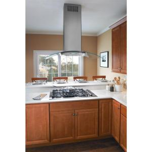 Store SO SKU #1000055176. Frigidaire 42 in. Convertible Glass Canopy Island Range Hood ...  sc 1 st  The Home Depot & Frigidaire 42 in. Convertible Glass Canopy Island Range Hood in ...