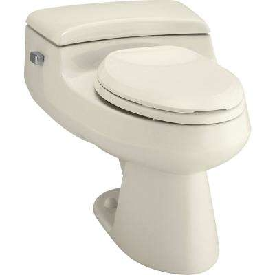 San Raphael Comfort Height 1-piece 1 GPF Single Flush Elongated Toilet in Almond, Seat Included