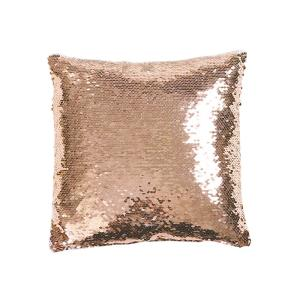Mermaid Sequins Blush White Single 16 In X Decorative Pillow