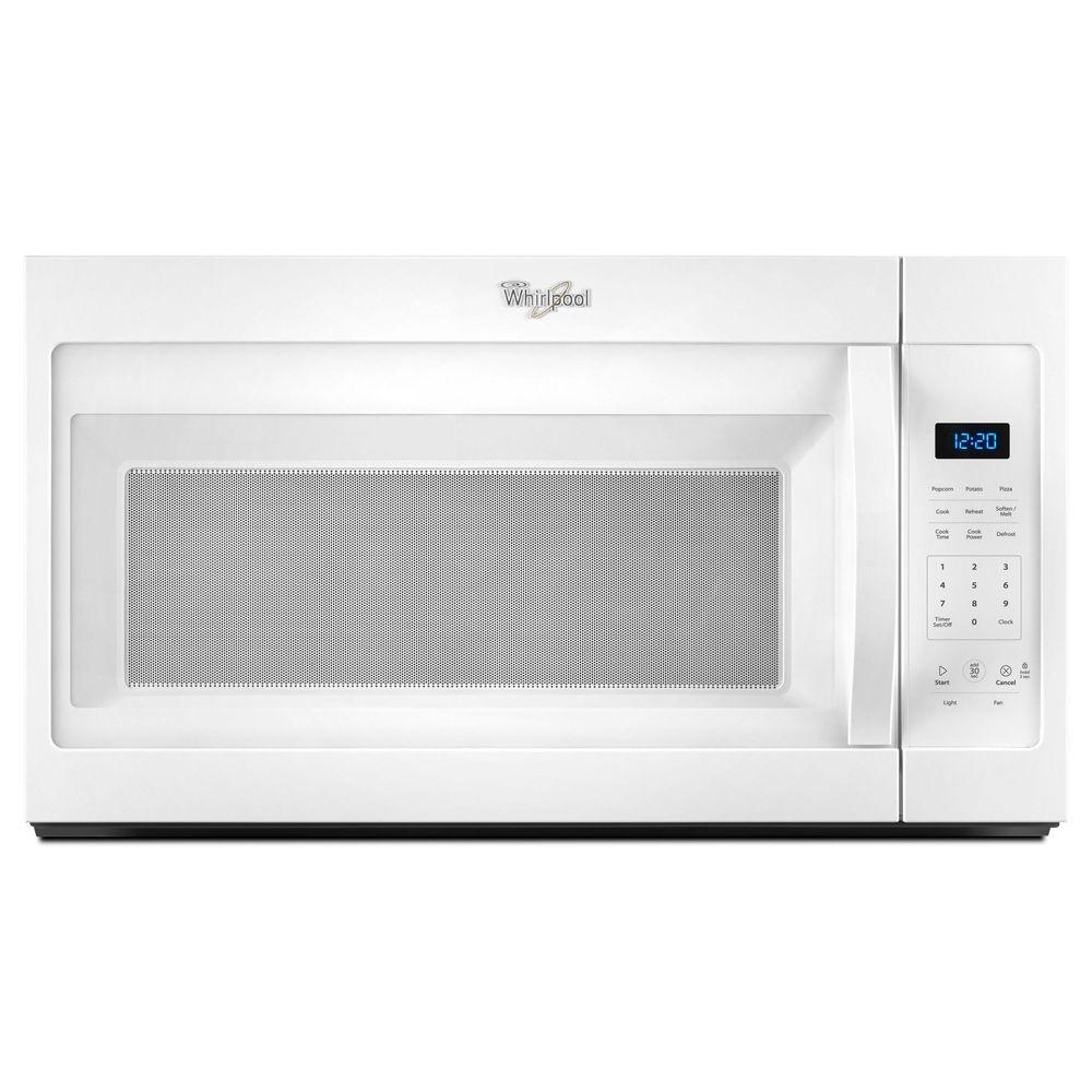 Whirlpool Over Oven Microwave: Whirlpool 1.7 Cu. Ft. Over The Range Microwave In White