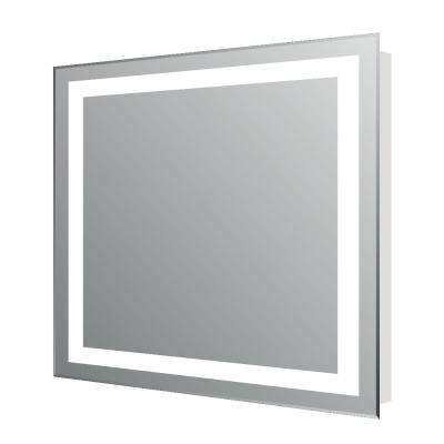 Lite 24 in. W x 30 in. H LED Wall Mounted Vanity Bathroom LED Mirror in Aluminum