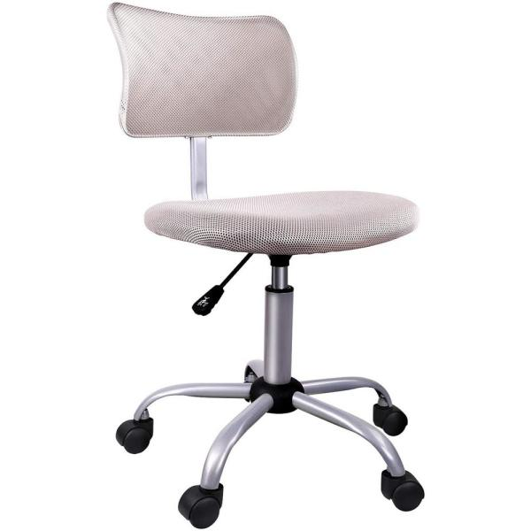 Boyel Living Armless Office Chair In Grey With Swivel Casters For Home Office Conference Low Back Computer Task Office Desk Chair Cr A95023 Gry The Home Depot
