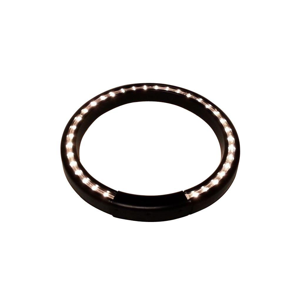 13 in. Black Lighted Halo Ring Indoor Planter Accessory