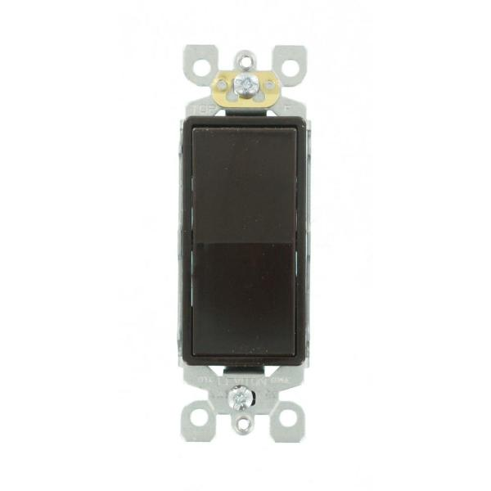 Decora 15 Amp Single-Pole AC Quiet Switch, Brown