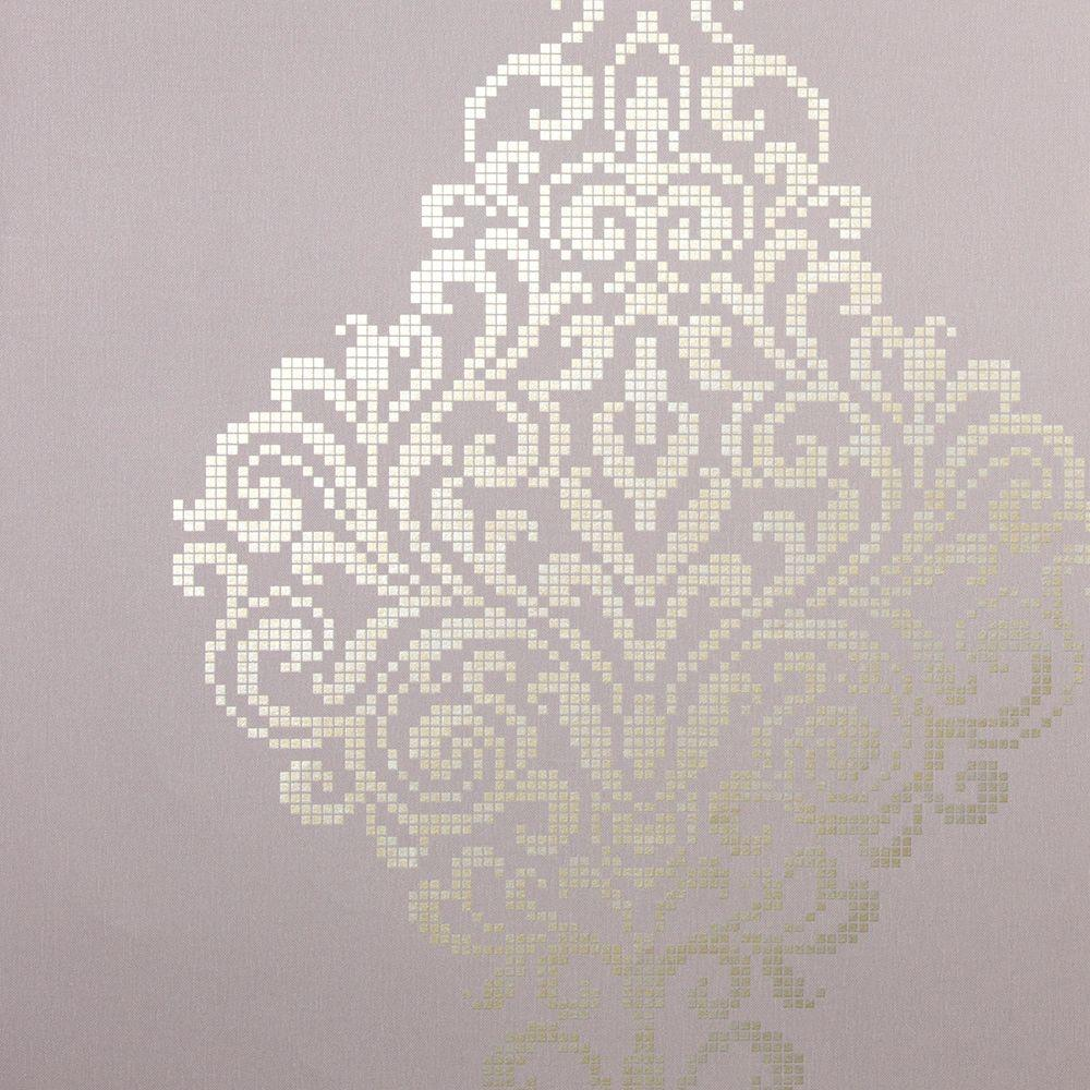 Kenneth James Lux Lavender Metallic Damask Wallpaper
