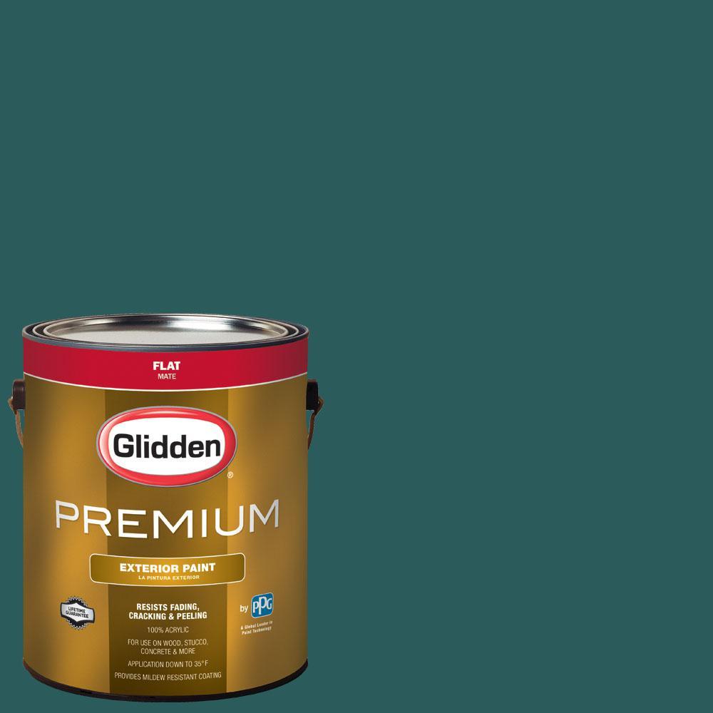 Glidden Premium 1 Gal Nfl 104a Philadelphia Eagles Midnight Green Flat Exterior Paint
