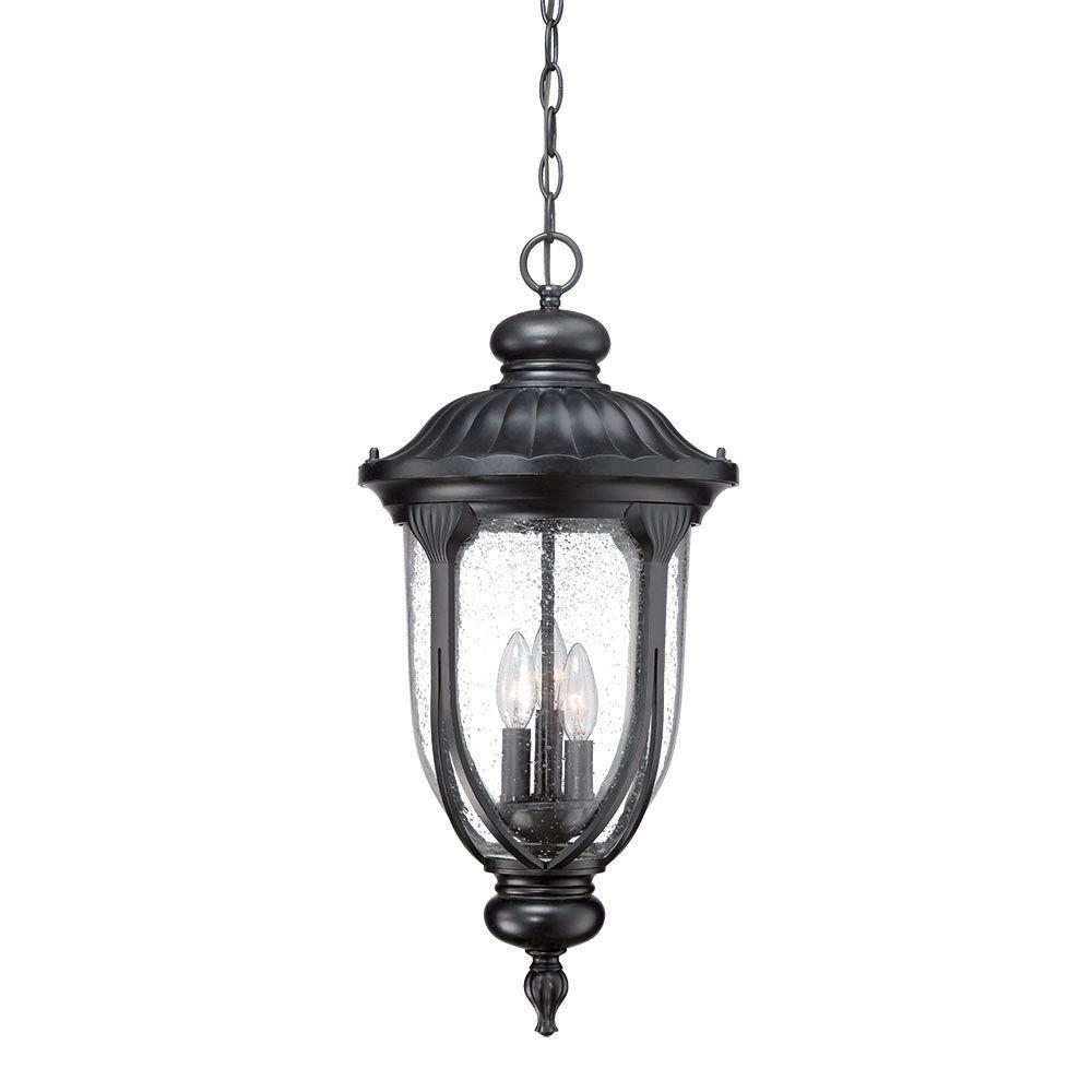 Acclaim Lighting Laurens 3-Light Matte Black Outdoor Hanging Lantern